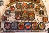 Prague Castle, Registry Office with czech heraldics. — Stock Photo