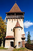 Tower of Biertan medieval church, Romania — Stock Photo