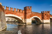 Ponte Scaligero, Verona, Italy — Stock Photo