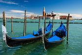 Gondolas Piazza San Marco, Venice, Italy — ストック写真
