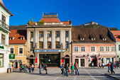 Council Square in Brasov, Romania — Stock Photo