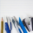 Royalty-Free Stock Photo: Blank piece of paper school Accessories supplies.