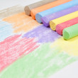 Children drawing with chalk. — Stock Photo