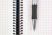 Notebook and pen closeup. — Stock Photo