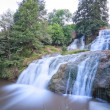 Stock Photo: Dzhurinsky waterfall in summer in Ukraine.