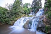 Dzhurinsky waterfall in the summer in the Ukraine. — Stock Photo