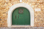 Old door arch gate in the old city of Faro. Portugal. — Stock Photo