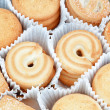 Cookies in the new packaging for Christmas. Close-up. — Stock Photo