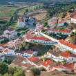 Aljezur village street scene in Portugal. View from above. — Stock Photo