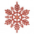 Christmas decorative snowflake. On a white background. — Stock Photo