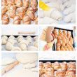 Collection set of images of croissants baking pies. — Stock Photo #17150893