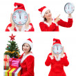 Stock Photo: A set of images for Christmas with Snow Maiden.