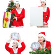 Snow Maiden image set for the new year. - Stock Photo