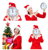 A set of images for Christmas with Snow Maiden. — Stock Photo