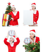 Snow Maiden image set for the new year. — Stock Photo