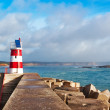 Stock Photo: Navy Pier with lighthouse and views of coastline. Sagres, Po