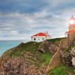 Historic lighthouse at Cape Sea. Portugal. — Stock Photo