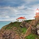 Historic lighthouse at Cape Sea. Portugal. — Stock Photo