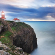 Glowing beacon at Cape Sea. Portugal. — Stock Photo