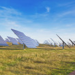 Stock Photo: Large station solar panels alternative energy.