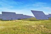 Station alternative energy from solar panels. — Stock Photo