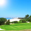 Summer day on the golf full of the sea. Portugal. — Stock Photo