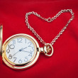 Pocket watch and silver chain. — Stock Photo