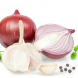 Royalty-Free Stock Photo: Vegetables, spices for cooking onions, peppers.