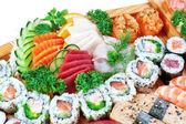 Set group of exotic food sushi. — Stock Photo