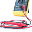 Stock Photo: Multimeter test leads from appliance. Close-up.