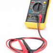 Stock Photo: Multimeter probes to measure. Close-up.