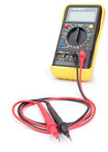 The multimeter probes to measure. Close-up. — Stock Photo