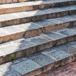 Stone steps of an ancient temple of the church. — Stock Photo