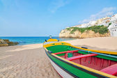 Magnificent beach on the coast of Portugal at Villa Carvoeiro. F — Stock Photo