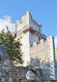 Ancient castle tower in the history of the villa of Beja in Port — Stock Photo