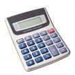 Modern digital calculator for calculations. Business. On a white — Stock Photo