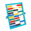 Stock Photo: Old classic arithmetic abacus. Different colors on a white back