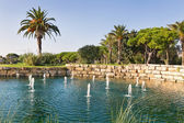 Luxury Fountain Lake in the park golf course in Portugal. — Stock Photo