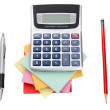 Foto de Stock  : Accessories for school and office work. On white background.