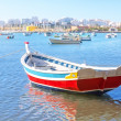 Fishing boat in the bay of Ferragudo village summer. Portugal. — Stock Photo