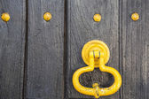Vintage old door handle close up. Portugal. — Stock Photo