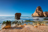 Sea surf wave magnificent landscape. Portugal, Albufeira. — Stock Photo
