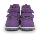 Purple Childrens Boots — Stock fotografie