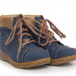 Blue childrens boots — Stock Photo #51413297