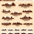 Stock Vector: Skyline city set. 10 cities of USA #4