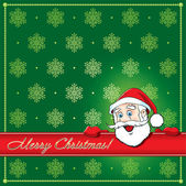 Christmas Santa Greeting card — Stock Vector