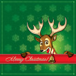 Royalty-Free Stock Vector Image: Christmas Deer. Greeting card.