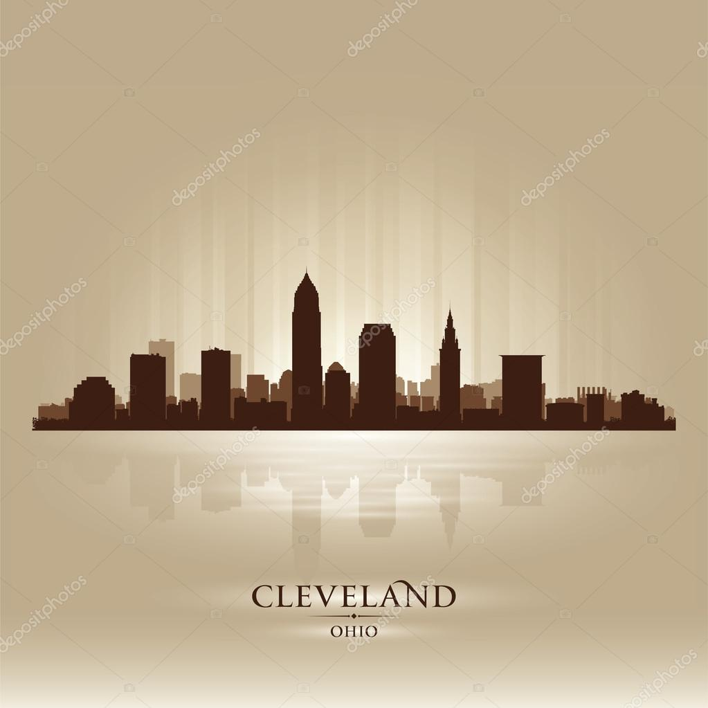 cleveland ohio skyline city silhouette  u2014 stock vector  u00a9 yurkaimmortal  21243129
