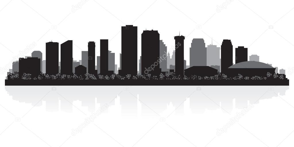 New Orleans City Skyline New Orleans Usa City Skyline
