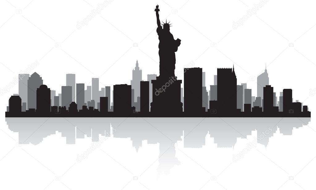 Nyc Skyline Silhouette Vector - new york city skyline outline cliparts ...